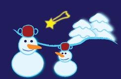 bonhommes de neige Photographie stock libre de droits