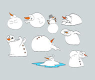 Bonhommes de neige de bande dessinée Photo libre de droits