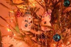 Bonhommes de neige jouet, décoration de Noël ! photographie stock