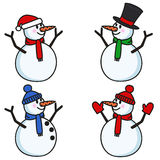 Bonhommes de neige réglés Photos stock
