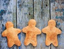 Bonhommes en pain d'épice Photographie stock