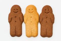 Bonhommes en pain d'épice noirs et blancs Photo libre de droits