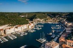 Bonifacia港口在可西嘉岛 免版税库存图片