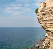 Bonifacio峭壁在可西嘉岛 库存照片
