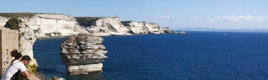 Bonifacio,可西嘉岛, Corse,南科西嘉,南,法国,欧洲,海岛 免版税库存图片