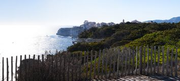 Bonifacio, Κορσική, Κορσική, Corse-du-sud, νότος, Γαλλία, Ευρώπη, νησί Στοκ φωτογραφία με δικαίωμα ελεύθερης χρήσης