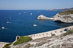 Bonifacio, Корсика, Франция Стоковые Изображения