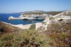Bonifacio, Корсика, Франция Стоковое фото RF