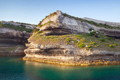 Bonifacio, Корсика, Corse-du-юг, Франция Стоковая Фотография RF
