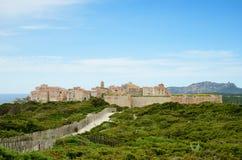 Αρχαία ακρόπολη Bonifacio Στοκ Εικόνες