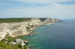 在Bonifacio附近的海岸 库存照片