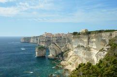 在Bonifacio附近的海岸 库存图片