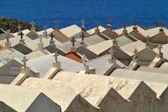 Bonifacio Cemetery, Corse, Francia fotografia stock libera da diritti
