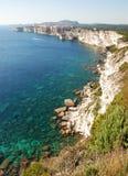 Bonifacio, città sulle rocce Fotografie Stock Libere da Diritti