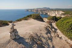 Bonifacio, città sulle rocce Immagini Stock