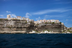 Bonifacio the city on the cliffs, Corsica, France Royalty Free Stock Photography