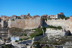 Bonifacio city, Corsica. Royalty Free Stock Images