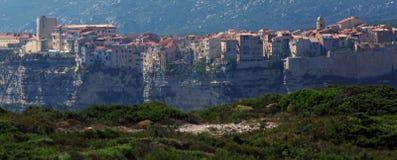 Bonifacio city of Corsica island Stock Photos