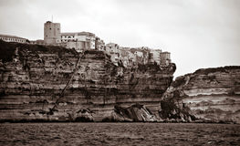Bonifacio city in Corsica island, France Royalty Free Stock Photo