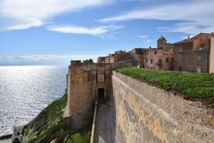 Bonifacio City, França Foto de Stock Royalty Free