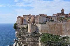 Bonifacio City, Francia imagen de archivo