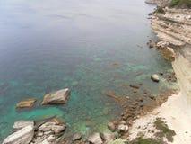 Bonifacio cliff hiking in corsican landscape Royalty Free Stock Image