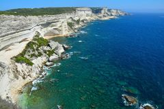 Bonifacio Cliffs Corsica imagem de stock royalty free