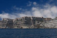 Bonifacio Clings a los acantilados Imagen de archivo