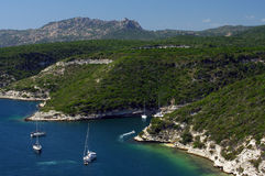 Bonifacio coast in corsica island Stock Photo