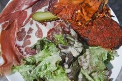 bonifacio corse可西嘉岛食物法国 免版税库存图片