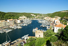 Bonifacio - Corsica (France). Harbor of Bonifacio in Corsica Stock Photography