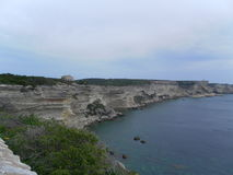 Bonifacio in corsican landscape Royalty Free Stock Image