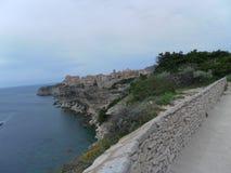 Bonifacio in corsican landscape Stock Photos