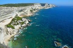 Bonifacio falezy Corsica obraz royalty free