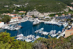 Bonifacio harbor, Corsica. Royalty Free Stock Photos