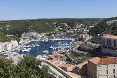 Bonifacio harbor, Corsica. Stock Photography