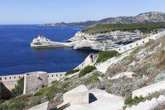 Bonifacio harbor, Corsica, France. Stock Image
