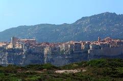 Bonifacio hills   in Corsica Royalty Free Stock Photography