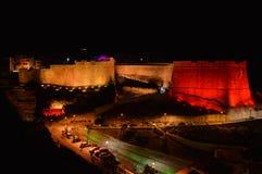 Bonifacio iluminou na noite Foto de Stock Royalty Free