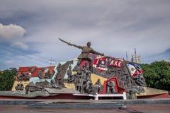 Bonifacio Monument en Manila Foto de archivo