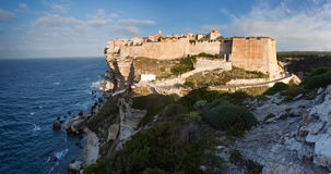 Bonifacio in morning sun, Corsica, France Royalty Free Stock Image
