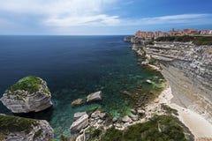 Bonifacio Old City über dem Mittelmeer Stockfoto