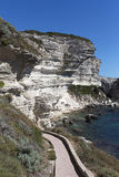 Bonifacio path, Corsica, France. Royalty Free Stock Photo