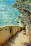 Bonifacio - Picturesque Capital of Corsica, France Royalty Free Stock Photos
