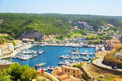Bonifacio port Royalty Free Stock Image