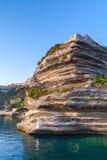 Bonifacio port, South part of Corsica island Stock Images