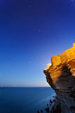 Bonifacio sea ciffs at dusk Royalty Free Stock Photos