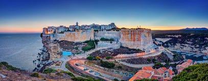Bonifacio sunset royalty free stock image