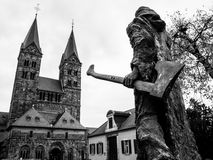 Bonifatius in front of the cathedral in Fritzlar Stock Images