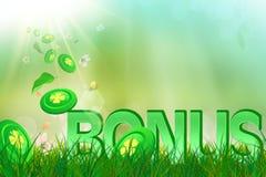 Bonification d'été dans l'herbe verte et fraîche Images stock